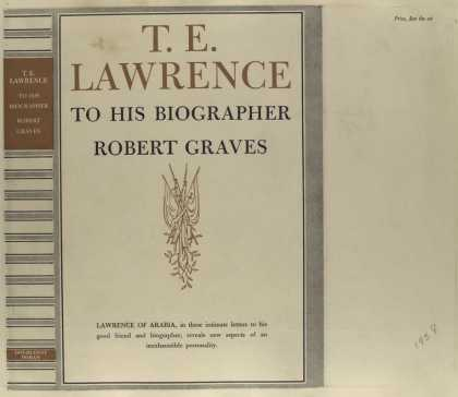 Dust Jackets - T. E. Lawrence to his bio