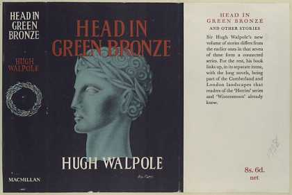 Dust Jackets - Head in green bronze / Hu