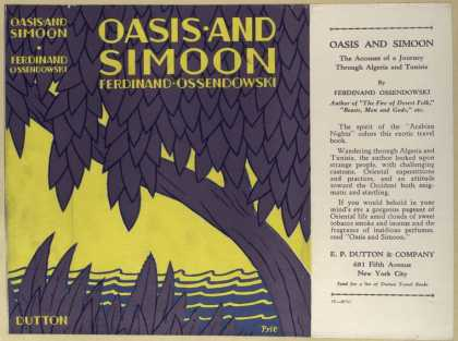 Dust Jackets - Oasis and simoon.