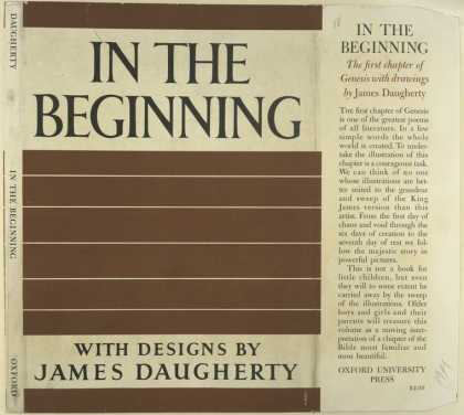 Dust Jackets - In the beginning.