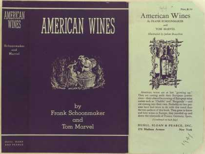 Dust Jackets - American wines.