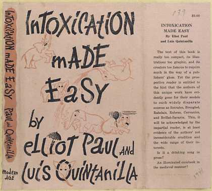 Dust Jackets - Intoxication made easy.