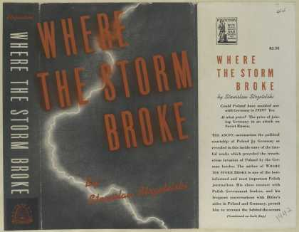 Dust Jackets - Where the storm broke.