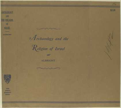 Dust Jackets - Archaeology and the relig