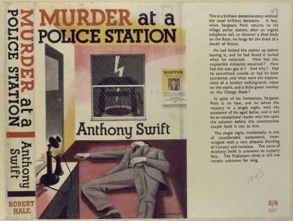 Dust Jackets - Murder at a police statio
