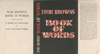 Dust Jackets - Ivor Brown's Book of word