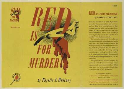 Dust Jackets - Red is for murder.