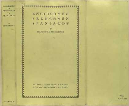 Dust Jackets - Englishmen, Frenchmen, Sp
