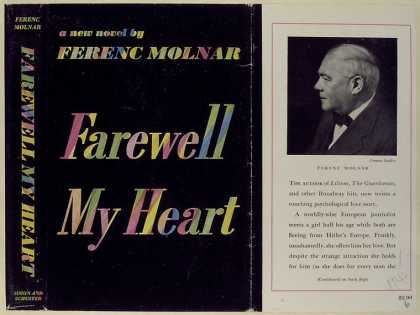 Dust Jackets - Farewell my heart, a nove