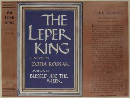 Dust Jackets - The leper king : a novel.