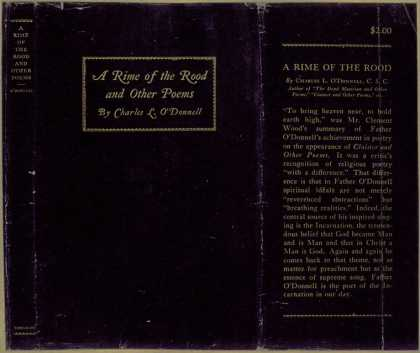 Dust Jackets - A rime of the rood and ot