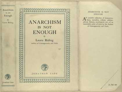 Dust Jackets - Anarchism is not enough.