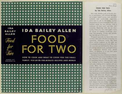 Dust Jackets - Food for Two, by Ida Bail