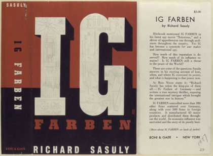 Dust Jackets - IG Farben, by Richard Sas