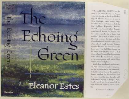 Dust Jackets - The Echoing Green, by Ele