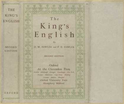 Dust Jackets - The king's English.