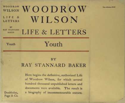 Dust Jackets - Woodrow Wilson : life and