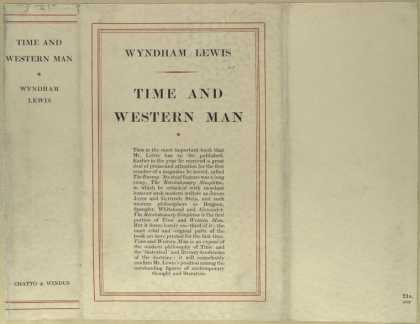 Dust Jackets - Time and western man.