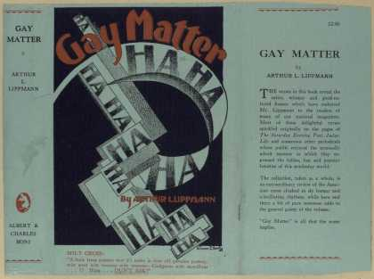 Dust Jackets - Gay matter.