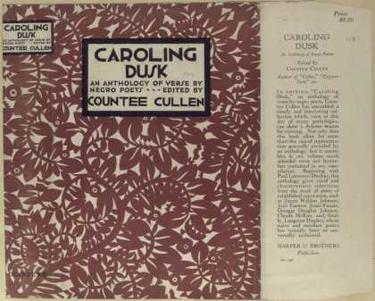 Dust Jackets - Caroling dusk an antholo