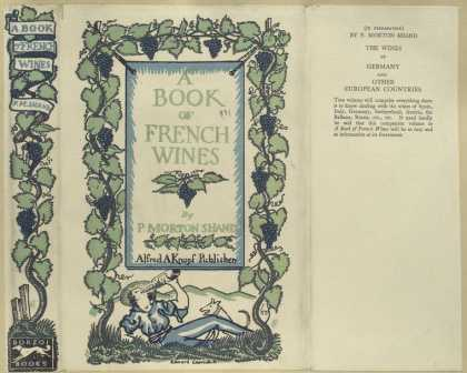 Dust Jackets - A book of French wines.