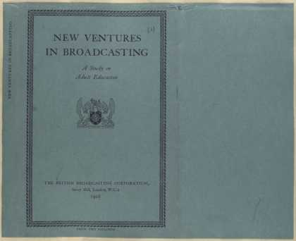 Dust Jackets - New ventures in broadcast