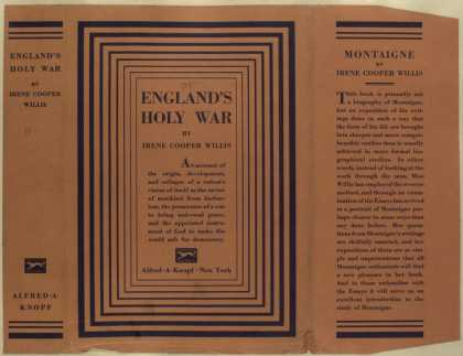 Dust Jackets - England's holy war.