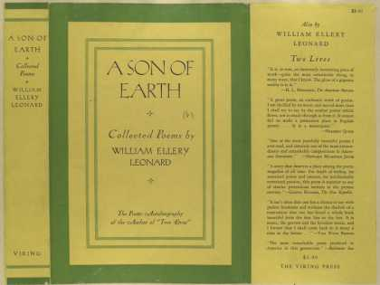 Dust Jackets - A son of earth, collected