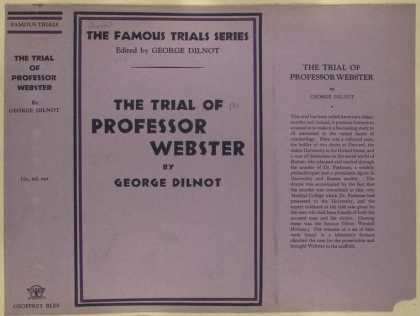 Dust Jackets - The trial of Professor We