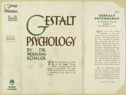 Dust Jackets - Gestalt psychology.