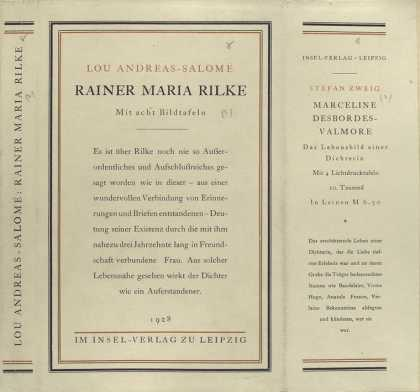 Dust Jackets - Rainer Maria Rilke ...