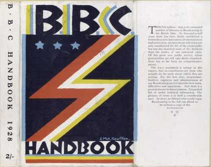 Dust Jackets - BBC handbook, 1928.