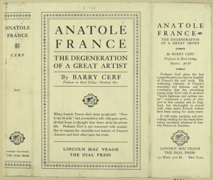 Dust Jackets - Anatole France, the degen