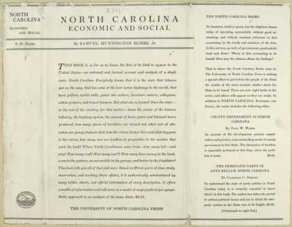 Dust Jackets - North Carolina, economic