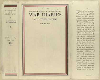 Dust Jackets - War diaries and other pap