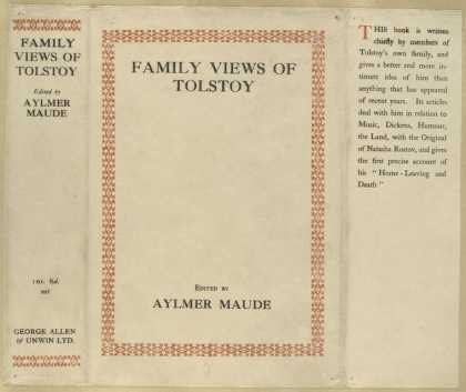 Dust Jackets - Family views of Tolstoy.