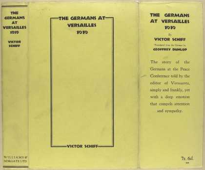 Dust Jackets - The Germans at Versailles