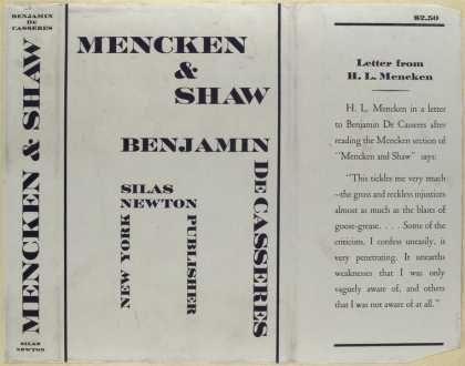 Dust Jackets - Mencken and Shaw.