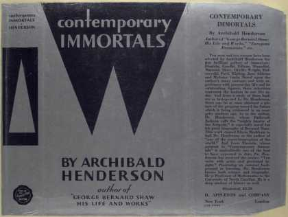 Dust Jackets - Contemporary immortals.
