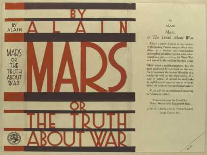 Dust Jackets - Mars or, The truth about