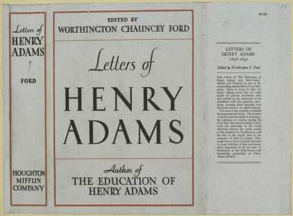 Dust Jackets - Letters of Henry Adams.