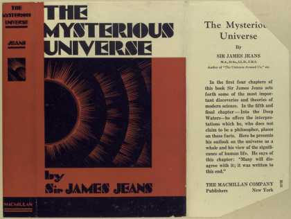 Dust Jackets - The mysterious universe.
