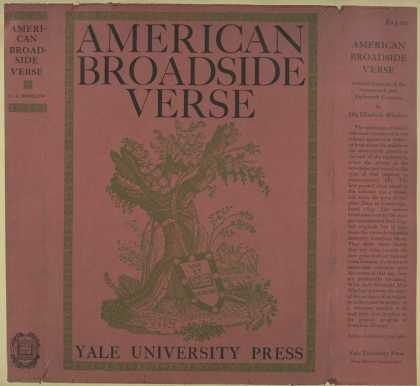 Dust Jackets - American broadside verse.