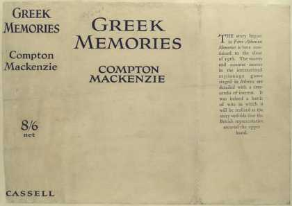 Dust Jackets - Greek memories, by Compto