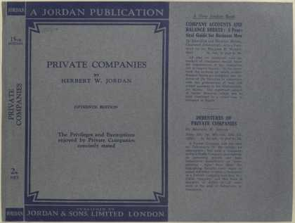 Dust Jackets - Private companies the pr