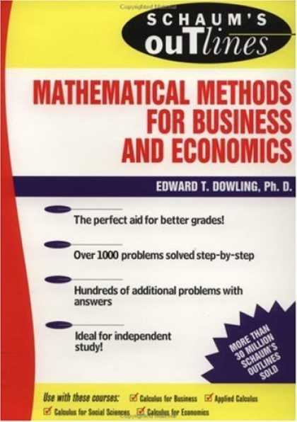 Economics Books - Schaum's Outline of Mathematical Methods for Business and Economics