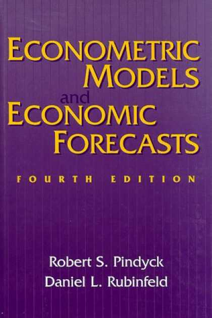 Economics Books - Econometric Models and Economic Forecasts