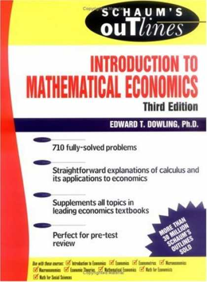 Economics Books - Schaum's Outline Introduction to Mathematical Economics
