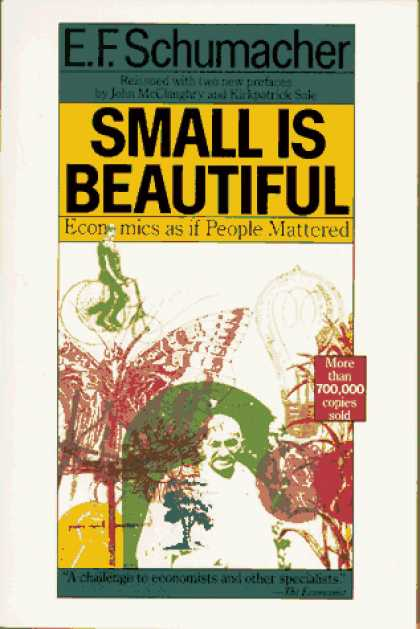 Economics Books - Small Is Beautiful: Economics as if People Mattered