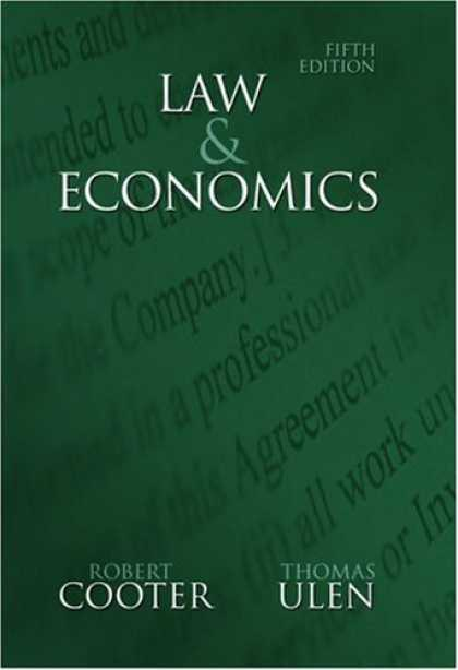 Economics Books - Law and Economics (5th Edition) (Addison-Wesley Series in Economics)
